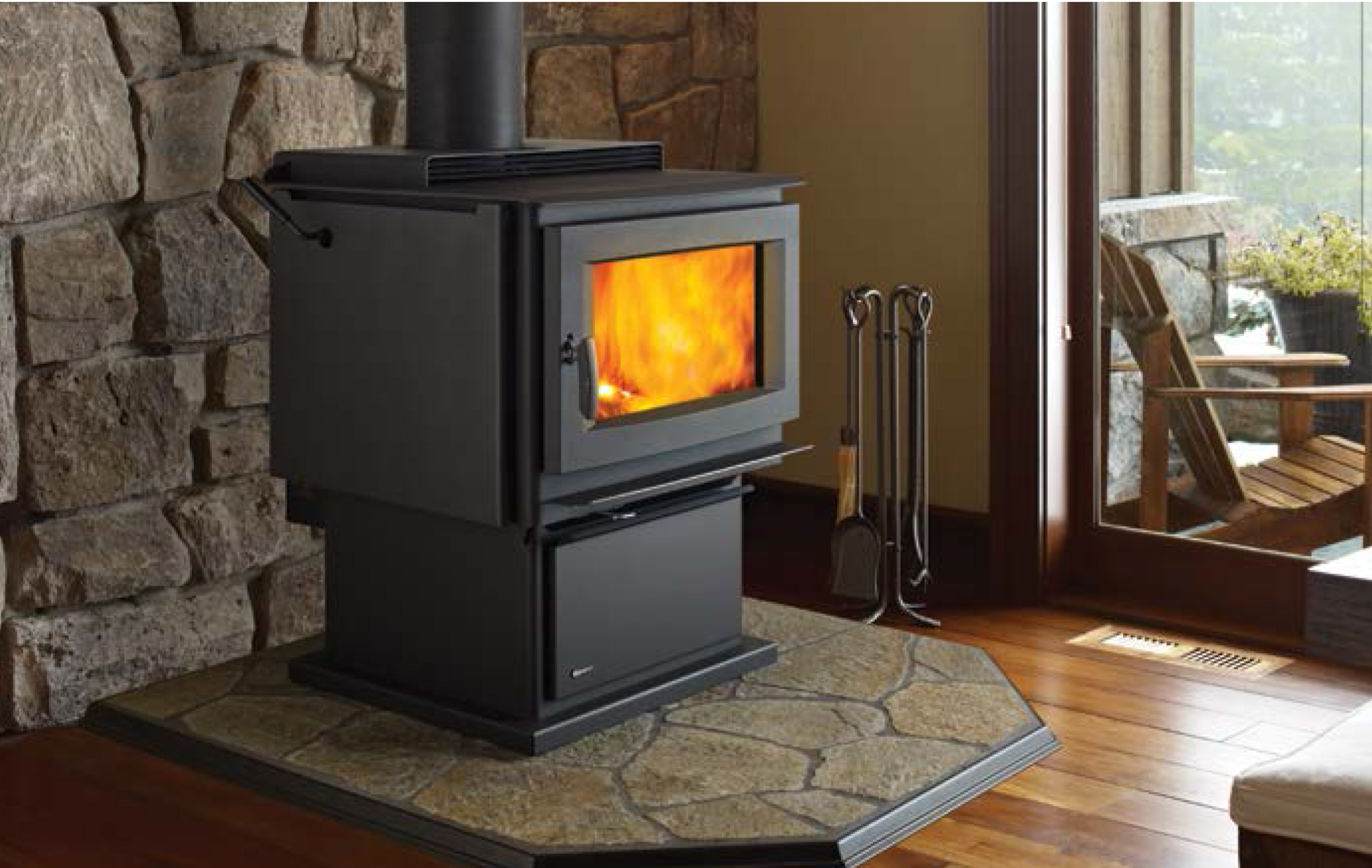 Freestanding Regency wood fire