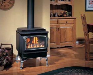 Freestanding gas fires