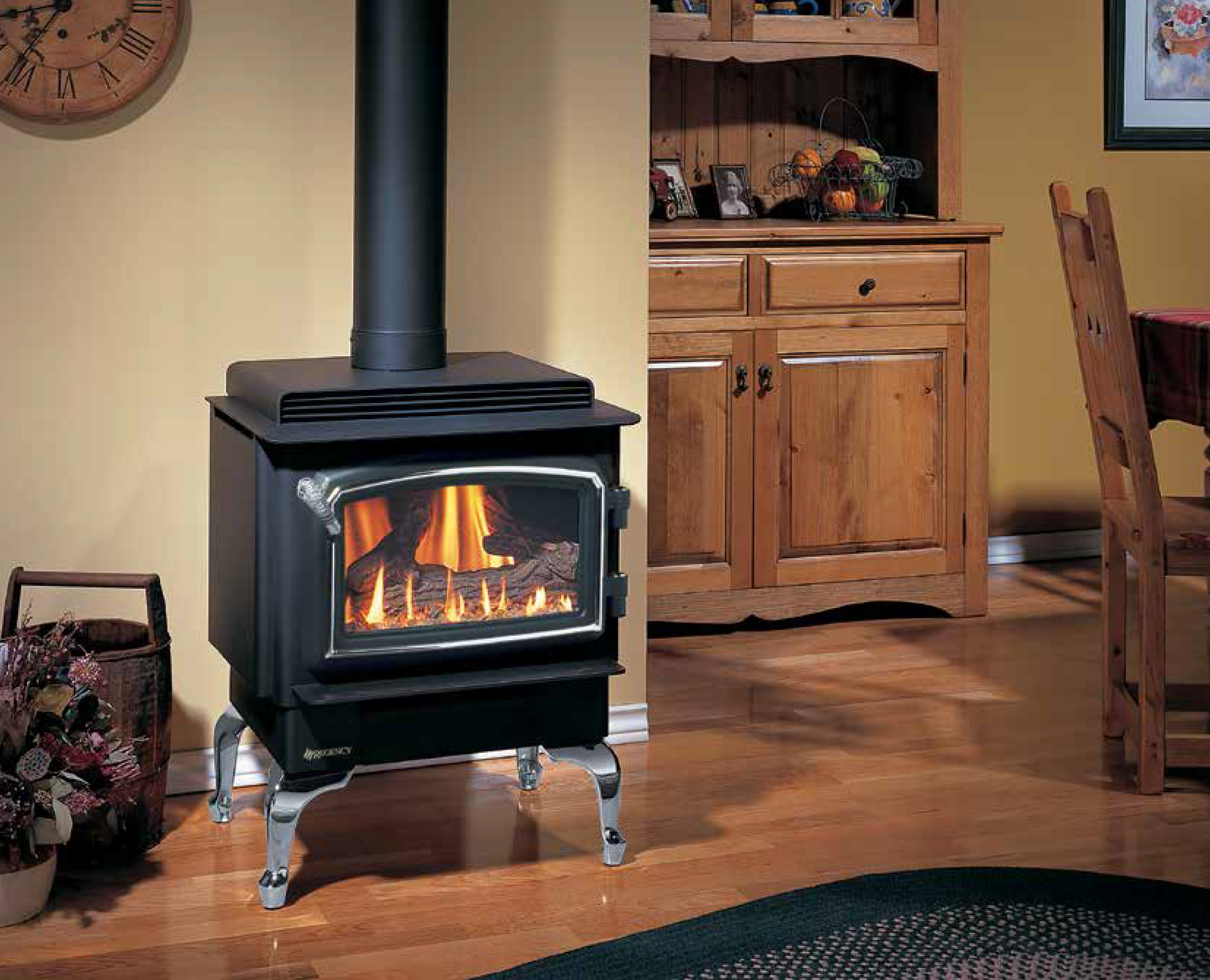 Freestanding gas fires
