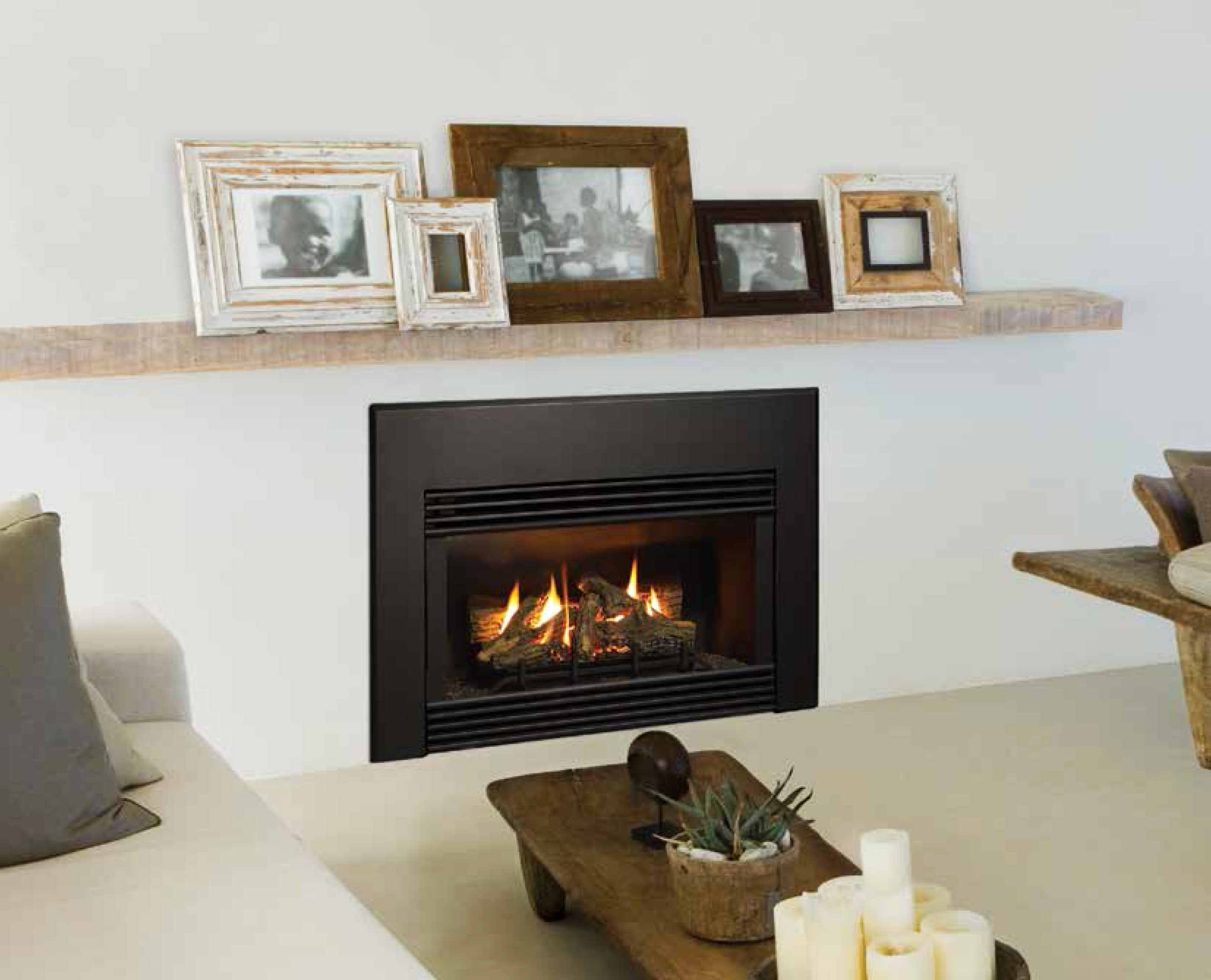Wall inbuilt gas fires