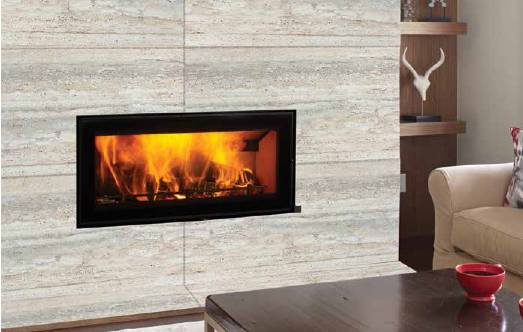 Wood inset fireplaces