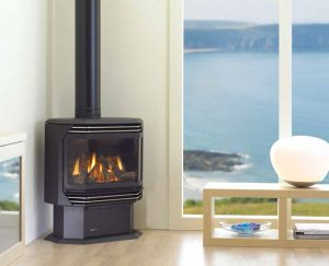 Freestanding gas fire